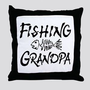 Fishing Grandpa Throw Pillow